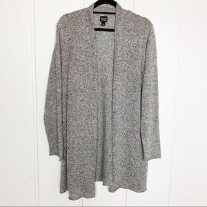 Eileen Fisher Knit Open Linen Heather Cardigan